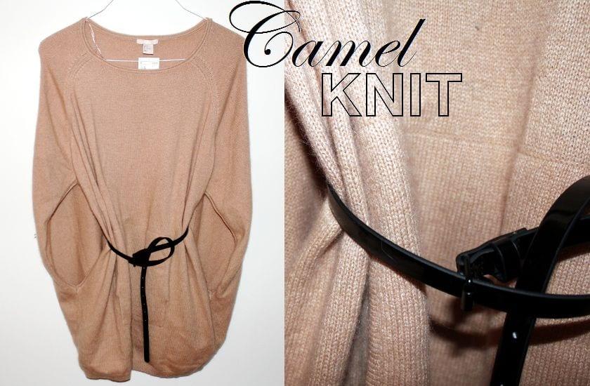 Camel Knit Cape