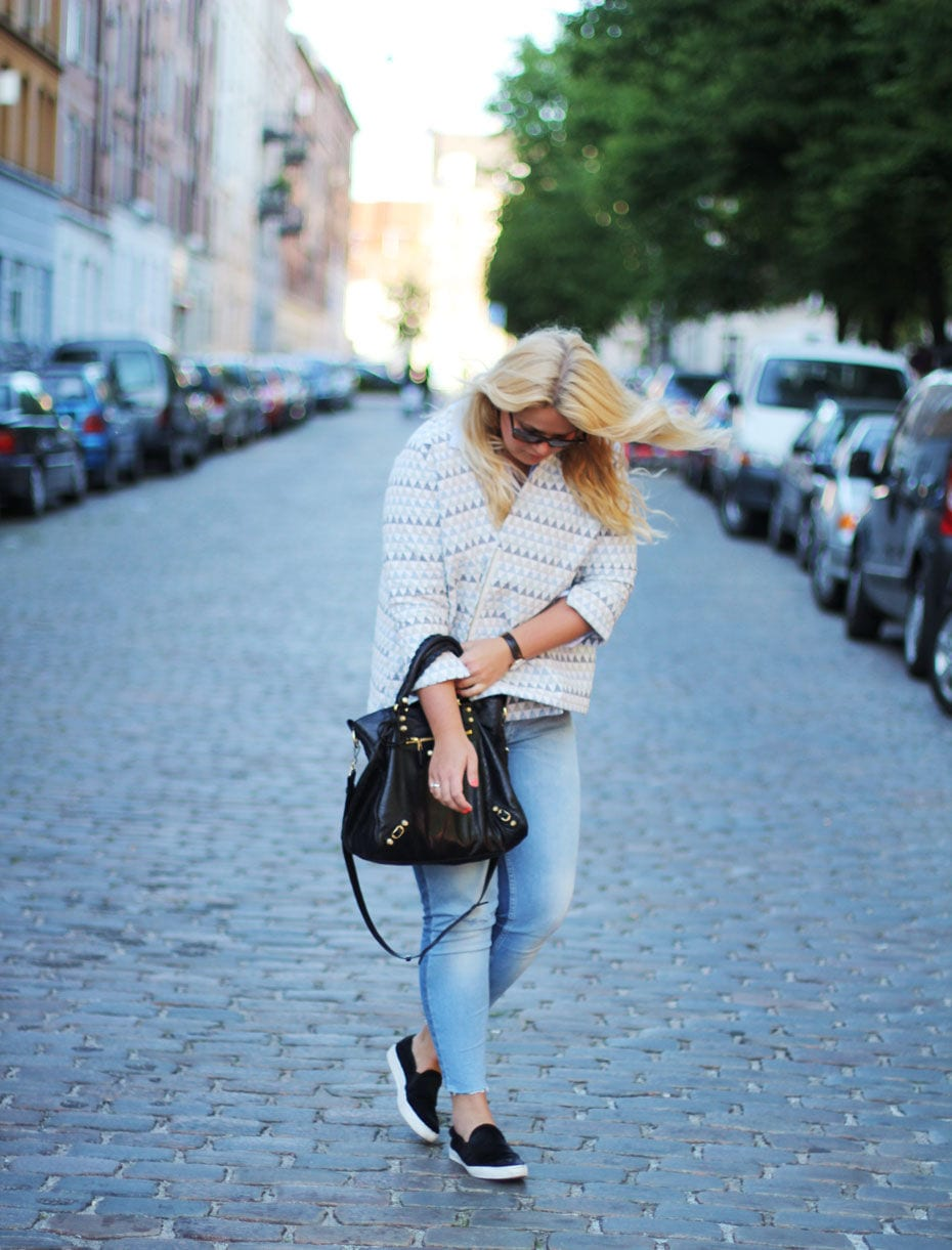 OUTFIT // ZARA TWO-TONE JEANS