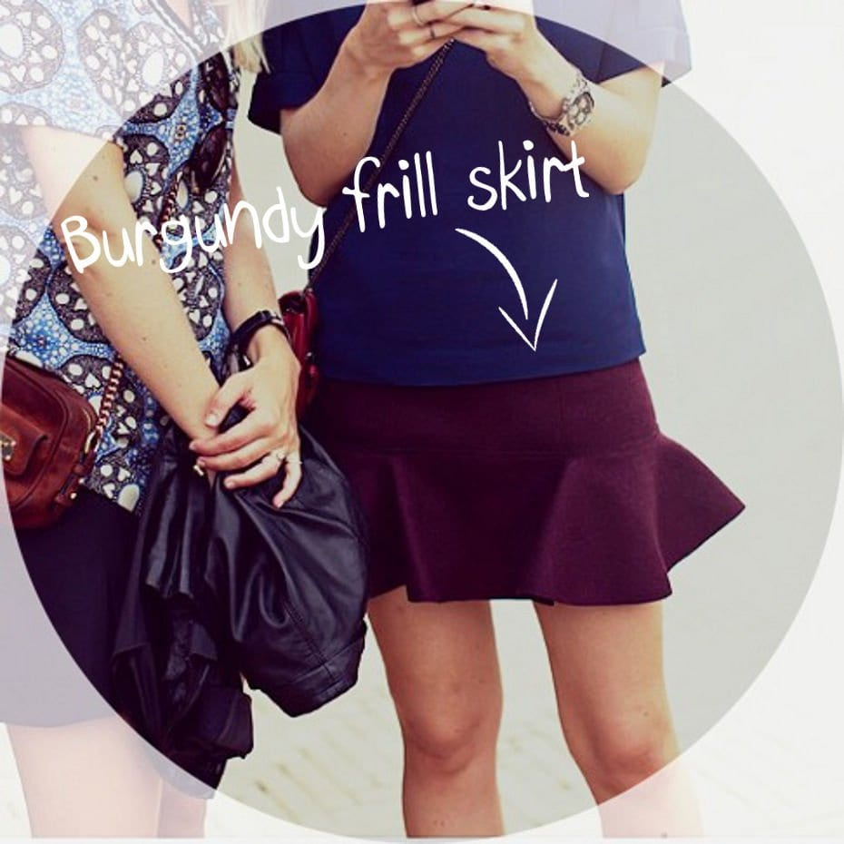 SHOPPING // ASOS BORDEAUX FRILL SKIRT