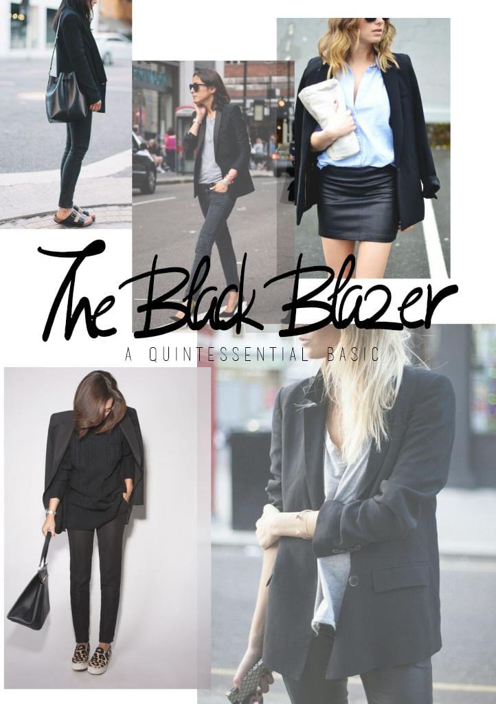 WORK WEAR <i>the black blazer</i>