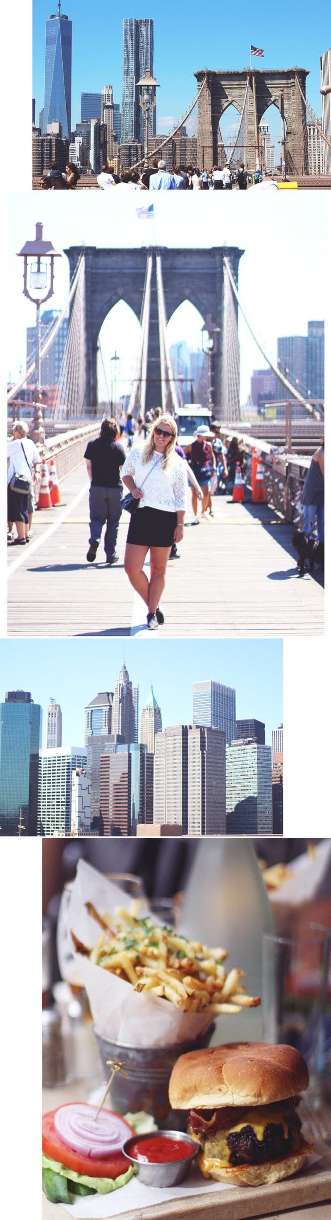 POSTKORT <i>Blonder på Brooklyn Bridge</i>