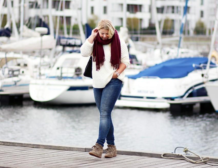 OUTFIT <i>- weekend i oversize strik og jeans</i>