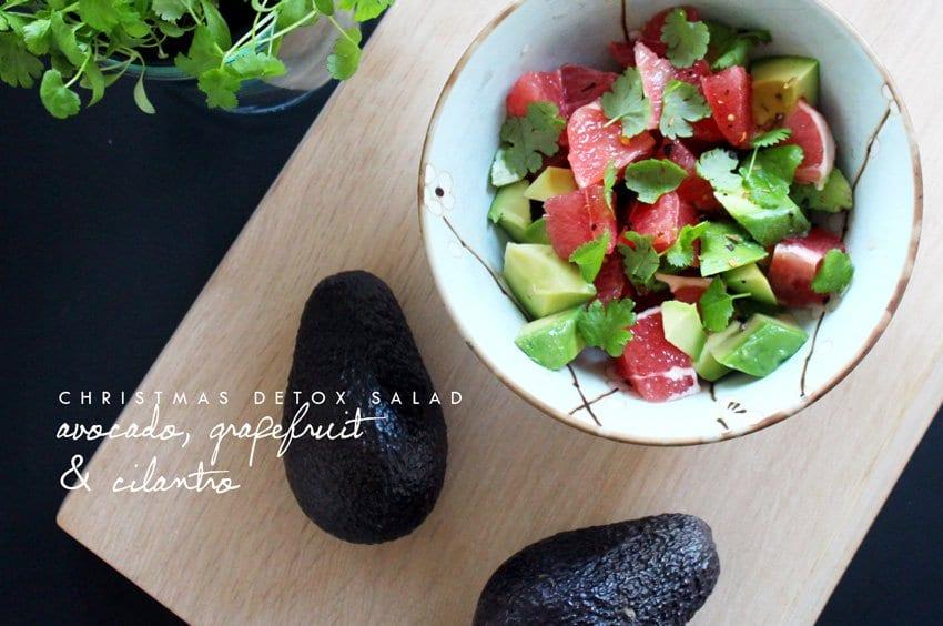 CHRISTMAS DETOX <i>- salat med avocado, grapefrugt og frisk koriander</i>