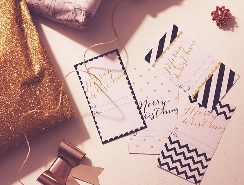JUL PÅ KAJEN - julehygge og DIY til-og-fra kort til download