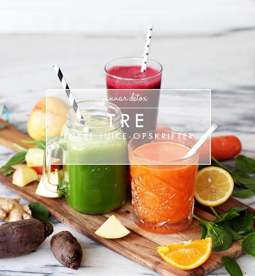 JANUAR-DETOX - 3 enkle juice-opskrifter..