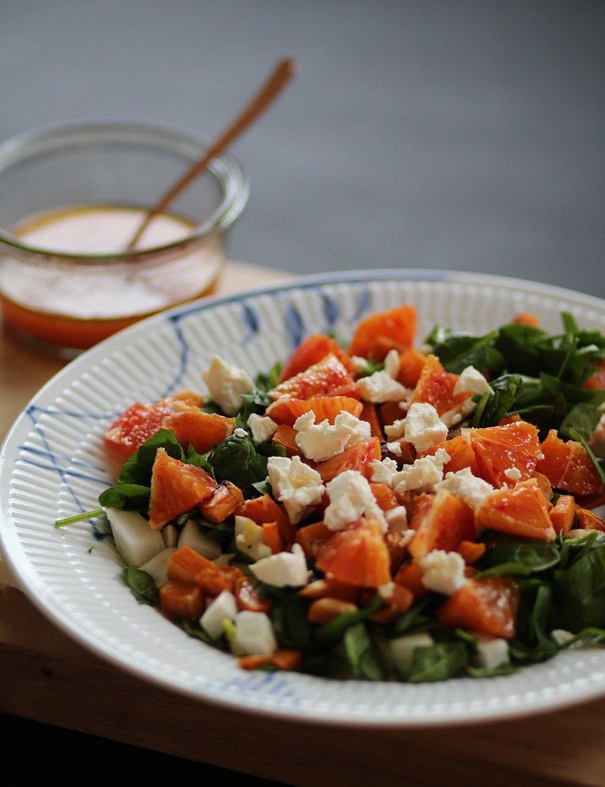 Salat med sød kartoffel & blodappelsin..