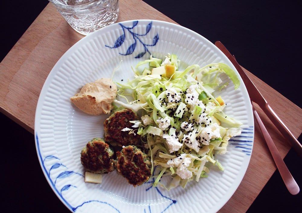 OPSKRIFT- Grønne spicy kyllingefrikadeller