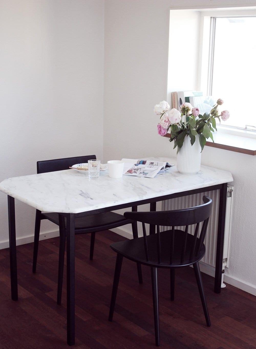 BOLIG - DIY marmor spisebord på budget..