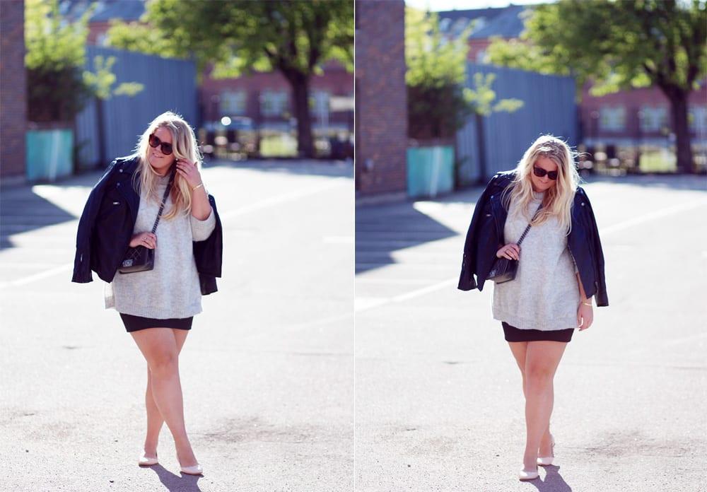 OUTFIT - Miniskirt og mohairsweater..
