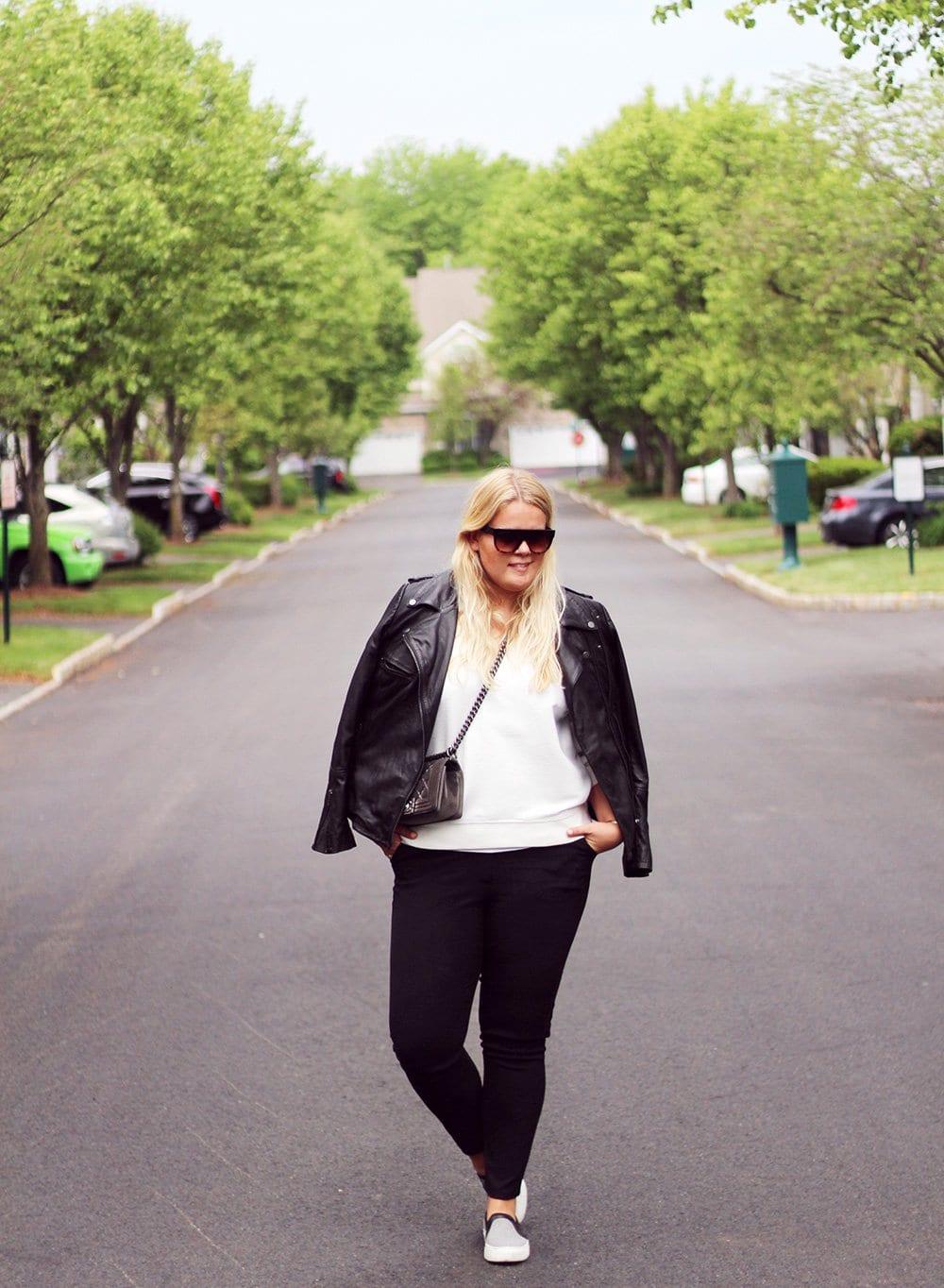 OUTFIT - slacks & læderjakke..