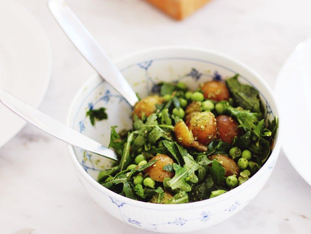 SOMMERMAD - grøn kartoffelsalat til grillmaden..