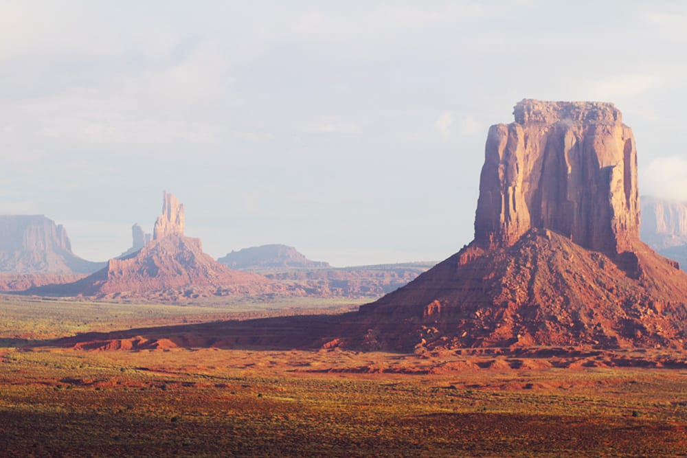 MONUMENT VALLEY - en ildrød solopgang..