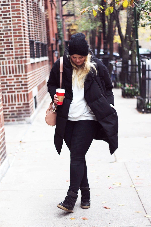 OUTFIT - sweatshirt, jeans & dynejakke..
