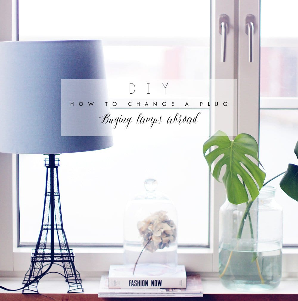 DIY - Eiffel Tower lamp og en ny stikprop..