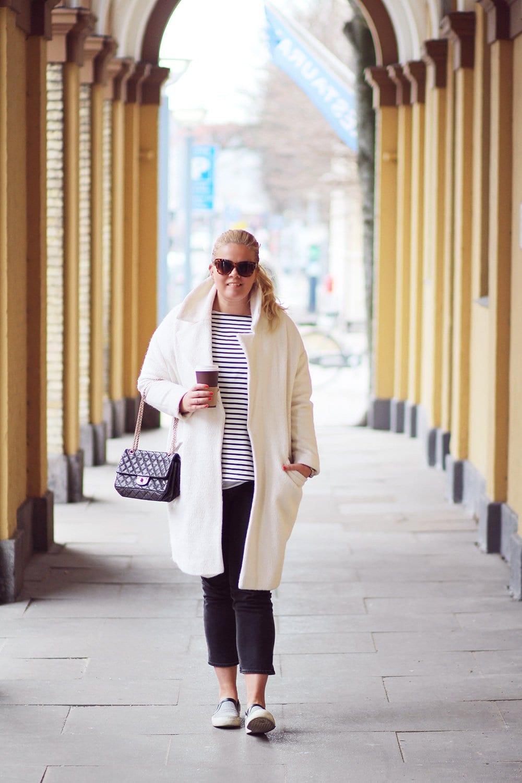 OUTFIT - Weekday jeans & hvid frakke..