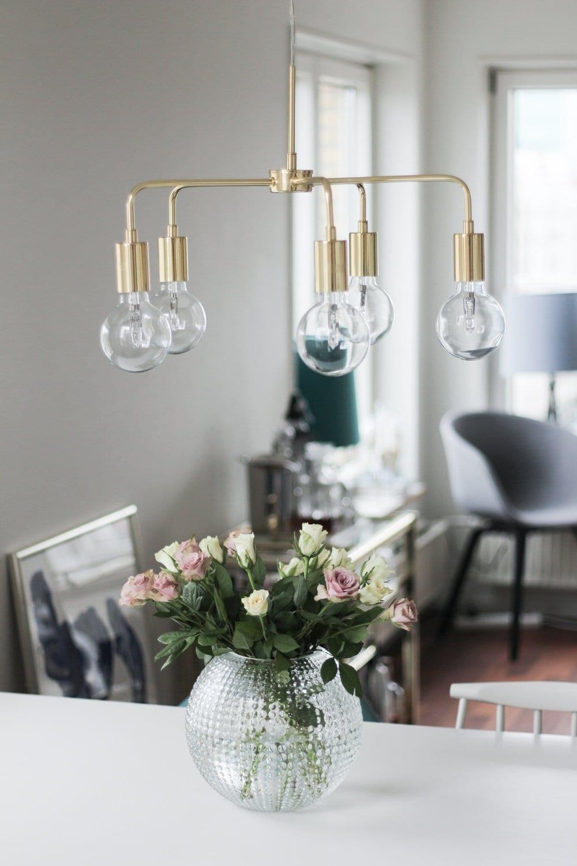 mio messing loftslampe lysekrone indretning spisebord (11 of 11)